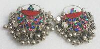 Jewelry Bohemian Ethnic Hippie Boho Gypsy Afghan Kuchi Earrings Crescent Tribal