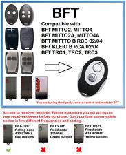 Bft MITTO 2, MITTO 4 Kleio TRC COMPATIBLE REMOTE CONTROL ROLLING CODE 433.92MHz.