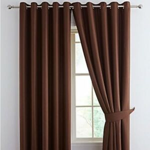 WOVEN BLACKOUT EYELET CURTAINS , IN 13 FAB COLOURS