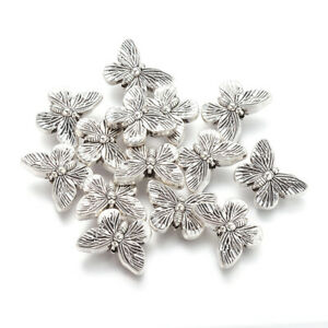 20pcs Tibetan Style Alloy Butterfly Beads Antique Silver Lead Free 14x18mm