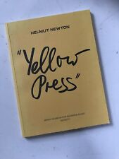 Helmut Newton Yellow Pages Art Photography Book Ltd Edition.