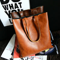 Women Ladies Fashion Handbag Shoulder Bag Celebrity PU Leather Large Tote Purse*