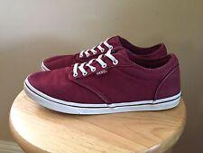 Vans Era Burgundy Red Maroon Sneakers, Women's Size 7.5