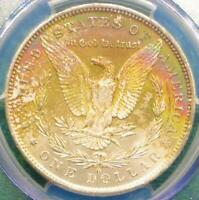 1883 O PCGS MS64 Silver Morgan Dollar, MS64 $1, Rainbow Color Tone Reverse LOOK