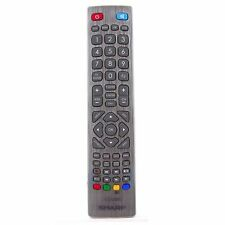 Genuine Sharp Aquos Silver Remote Control for LED LCD TV's with 3D PVR DVD Keys