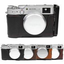 Genuine Leather Half Camera Case Grip L Base Bracket For FUJIFILM FUJI X100V