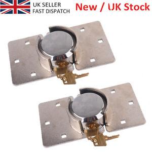 1-6 X Van Garage Shed Door Security Padlock Hasp Set Lock 73mm Steel Round Locks