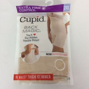 Cupid Extra Firm Control Back Magic Hi Waist Thigh Slimmer #5699 Beige Size 2XL