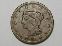 1842 US Braided Hair Large Cent Coin (Large Date).  #17