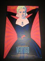 Vertigo Limited Edition Print Poster Hitchcock Jack Durieux Mondo artist x/225