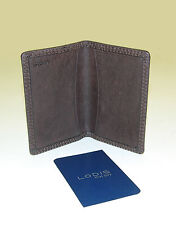 LODIS 1326 NT Brown Brocken-In Leather Business Card Case / Wallet ~Ret. $68 NWT