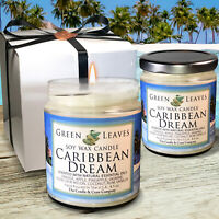 Handmade, 2 8.5 oz. Soy Candles That Smell Amazing Caribbean Dream! Candle Gift