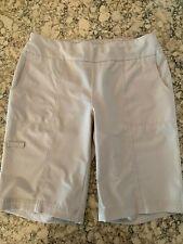 Chico's Weekends Women's Casual Shorts Bottoms, Spandex, Khaki, Bermuda, Size 0