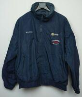 Men's Columbia Bomber Jacket Fleece Lined Size XL with Company Logo