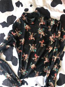 Y2K Urban Outfitters Cherub Mesh Turtle Neck T-Shirt Small