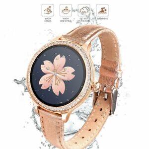 Bluetooth Smart Watch Heart Rate Monitor Waterproof Wristwatch for Women Ladies