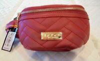"NEW Fanny Pack - Bebe® ""Sophia"" Faux Leather Red Waist Belt Bag - $69"