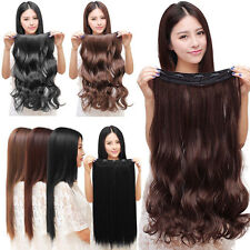 Natural Lady 3/4 Full Head Clip In Hair Extensions Wavy Curly Straight Hair Hot