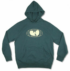 Wu-Tang Clan Wu Wear Bat on Forest Green Pullover Sweatshirt Hoodie New Official