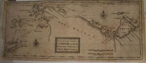 PAPUA NEW GUINEA TIMOR SERAM 1712 DAMPIER UNUSUAL ANTIQUE COPPER ENGRAVED CHART