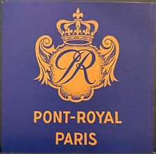 Luggage Label ~ Point-Royal Hotel Paris FRANCE ~ Crest With Crown