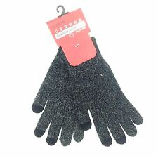 $199 Alfani Men'S Gray Touch Screen Stretch Fit Warm Winter Gloves One Size