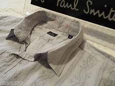 """PAUL SMITH Mens Shirt 🌍 Size M (CHEST 38"""") 🌎 RRP £95+📮 FLORAL STYLE STRIPES"""