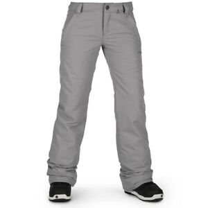 Volcom Frochickie Insulated Snowboard Pants, Women's Medium, Charcoal Gray New