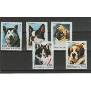Benin 2000 Fauna Dogs 5 Val MNH Photo MF73901