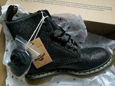 Genuine Dr Martens 1460 Pascal Black Glitter Boots Size UK 5 EU 38