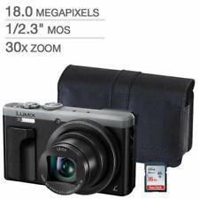 Panasonic LUMIX DMC-ZS60 Digital Silver Camera with Case & 16GB SD Card (BUNDLE)