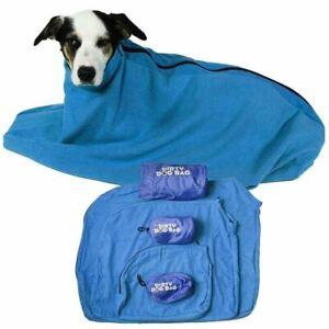 Medium Sized Blue Dirty Dog Bag Super-Absorbent Keeps Pet Car and Home Spotless