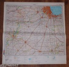 Authentic Soviet Army Military Topographic Map Chicago, Peoria, Illinois USA