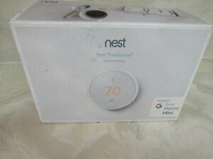 Nest Thermostat E White with Google Home Mini Bundle