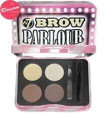 W7 BROW PARLOUR Eyebrow Kit - Powder, Wax,Tweezers, Brush, Comb, Highlighter NEW