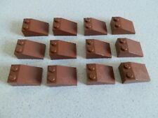 Lego 3298 # 12x Dachstein Schrägstein 3x2 reddish braun 7662