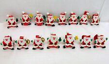 Set 15 Christmas Santa Fabric Napkin Rings Holders Party Table Decoration