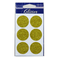 Icon Craft, Glitter Self Adhesives - Gold Circles or Blue Stars