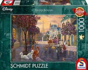 Aristocats: Schmidt Disney Thomas Kinkade Jigsaw Puzzle 1000 59690