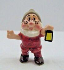 Disney Snow White Doc Dwarf Figurine Porcelain Vintage Malaysia
