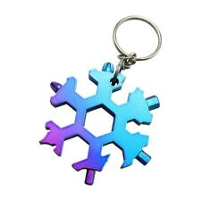 15-in-1 Stainless Multi-function with Snowflake Shape Keychain Screwdrivers