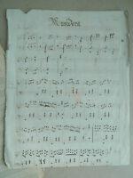 XIX Antik Noten Handschrift Musidora Adrien Talexy Polka Mazurka
