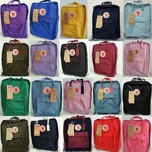 HOT Unisex 7L/16L/20L Fjallr Kanken Backpack Travel Shoulder School Bags