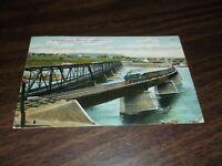 1907 LEHIGH VALLEY RAILROAD NEW BRIDGE AT TOWANDA, PA POSTCARD