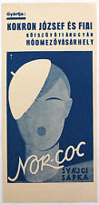 Vtg. advertising Art-Deco counting slip of paper Nor-Coc barret, Sign: Irsai
