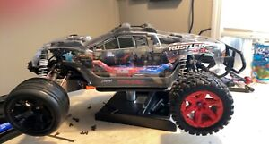 Clear Custom Hydro dipped VERY FAST!! 3s Traxxas Rustler 4X4 VXL RTR. 👀