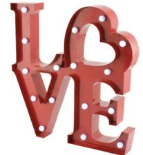 Red LOVE Light Up Sign/Plaque