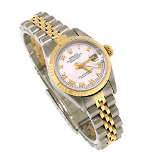 Rolex 2Tone Gold/Steel Lady DateJust69173 Roman Numeral Oyster Jubilee Watch26mm