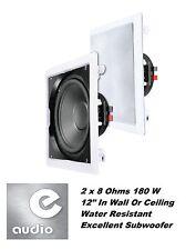 """E-audio résistant à l'eau 12 """"en mur / plafond sub-woofer (2x8ohms 180W) #B 415a"""