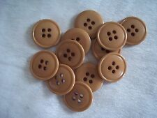 "Vintage Lot of 24 BEIGE BUTTONS 3/4"" (19.1 MM) 4 H ~ Made in USA"